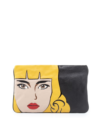Napa Zip Girl Clutch Bag, Black (Nero)