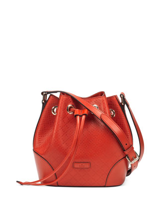 Bright Diamante Small Bucket Bag, Orange