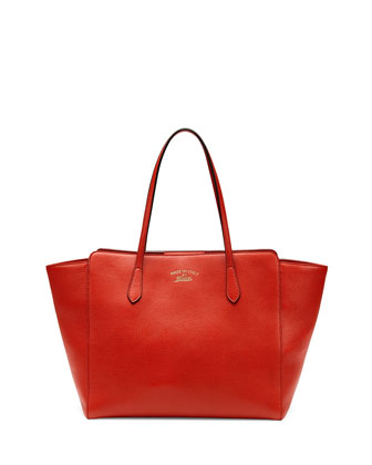 Gucci Swing Medium Tote Bag, Orange