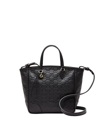 Bree Small Guccissima Tote Bag, Black