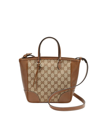 Bree Small GG Canvas Tote Bag, Brown
