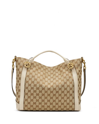Miss GG Medium Canvas Tote Bag, Beige