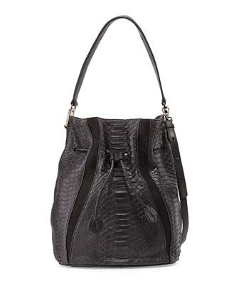Python Bucket Bag, Black