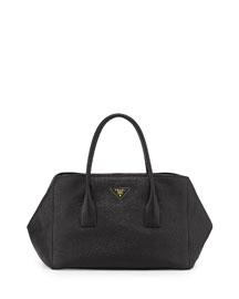 Vitello Daino Garden Tote Bag, Black (Nero)