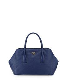 Vitello Daino Garden Tote Bag, Dark Blue (Inchiostro)