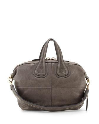 Nightingale Small Zanzi Satchel Bag, Dark Gray