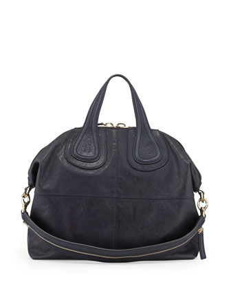 Nightingale Medium Zanzi Satchel Bag, Navy