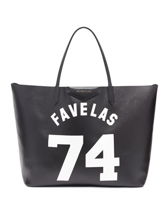 Antigona Favelas 74 Large Shopper Bag, Black/White