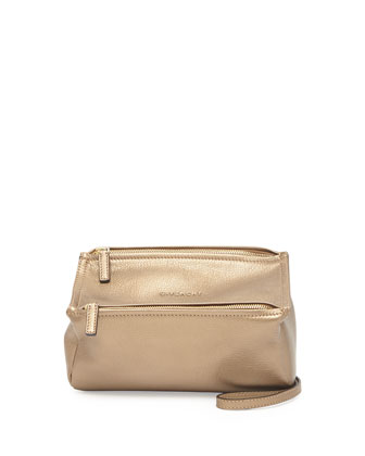 Pandora Mini Leather Crossbody Bag, Golden