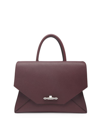 Obsedia Medium Hawaii Flap Bag, Bordeaux