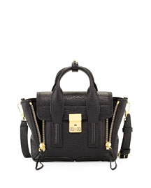 Pashli Mini Zip Satchel Bag, Black