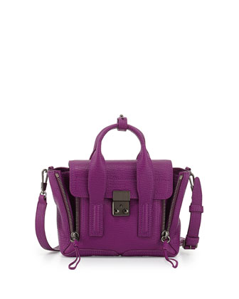 Pashli Mini Leather Satchel Bag, Orchid