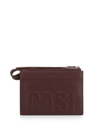 Cash Only Depeche Small Clutch Bag, Bordeaux