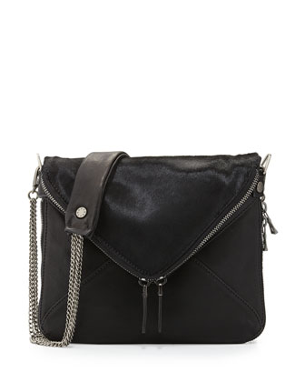 Calf-Hair/Leather Mini Crossbody