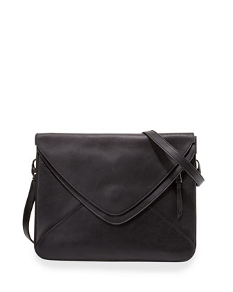 Slash 2.0 Leather Crossbody Bag, Black