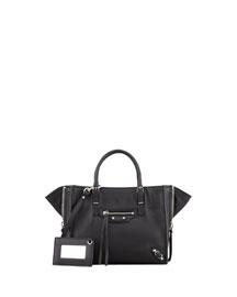 Papier A4 Mini Leather Tote Bag, Black