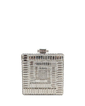 Cube Crystal Clutch Bag, Rhine Multi