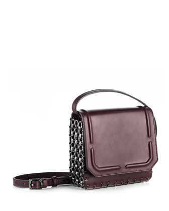 Lypton Chain-Detail Crossbody Bag, Oxblood