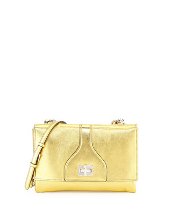 Vitello Soft Chain Shoulder Bag, Golden (Oro)