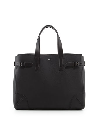 Bradbury Leather Tote Bag, Black
