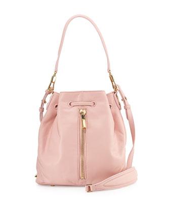 Cynnie Mini Bucket Bag, Pink Beach