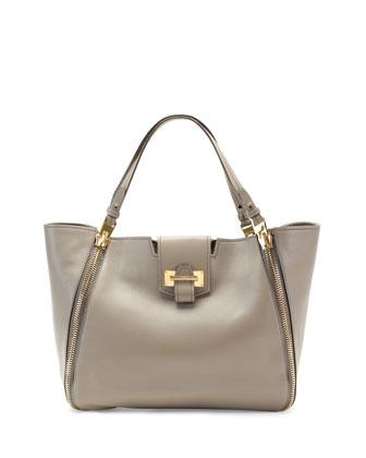 Sedgwick Medium Zip Tote Bag, Taupe