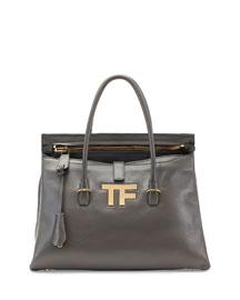 TF Icon Medium Satchel Bag, Dark Gray