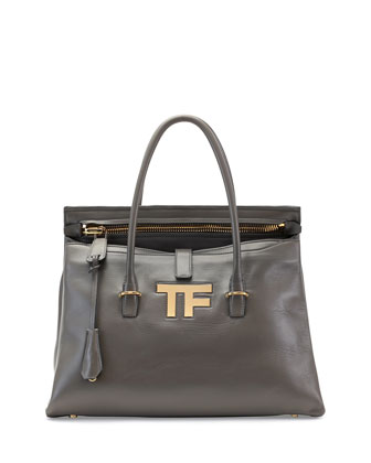 TF Icon Medium Satchel Bag, Dark Gray
