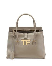 TF Icon Medium Satchel Bag, Taupe