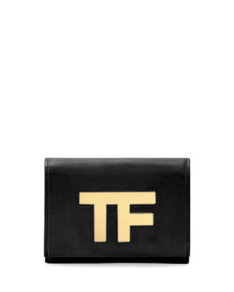 TF Small Flap Crossbody Bag, Black