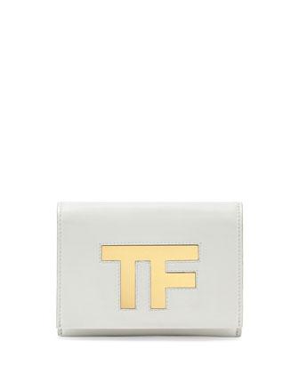 TF Small Flap Crossbody Bag, White