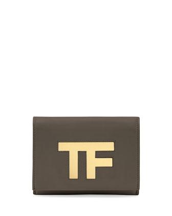 TF Small Flap Crossbody Bag, Dark Gray