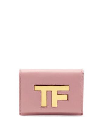 TF Small Flap Crossbody Bag, Pink