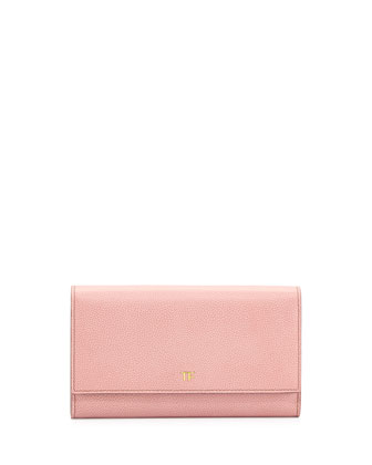 Leather Wallet-on-Chain, Pink