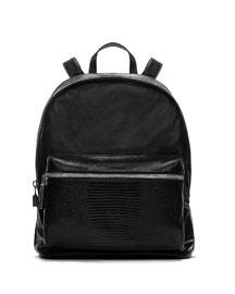 Cynnie Lambskin Backpack, Black