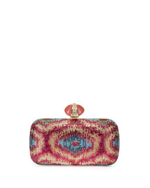New Soap Dish Crystal Clutch Bag, Multi