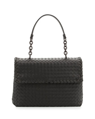 Olimpia Medium Shoulder Bag, Charcoal