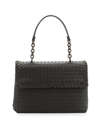 Olimpia Medium Shoulder Bag, Charcoal