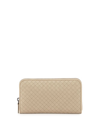 Continental Zip-Around Wallet, Beige
