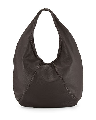 Cervo Large Hobo Bag, Espresso