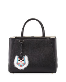 2Jours Petit Monster-Charm Shopping Tote Bag, Black