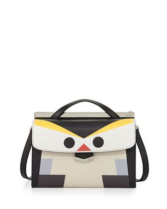 Mini Demi Jour Penguin Bag, Black Multi