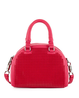 Panettone Small Spiked Satchel Bag, Pink