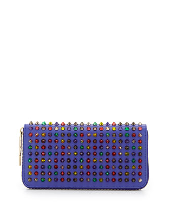 Panettone Spiked Zip Wallet, Blue/Multi