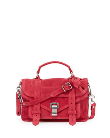 PS1 Tiny Suede Shoulder Bag, Raspberry