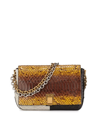 PS Courier Small Python Shoulder Bag