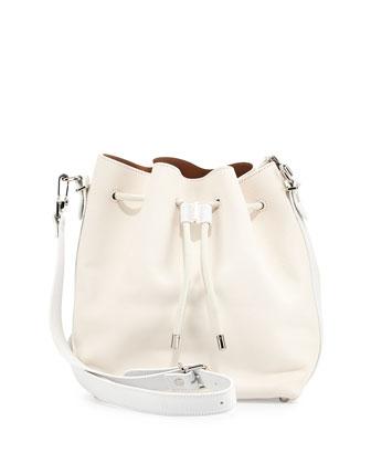 Medium Bucket Bag, White
