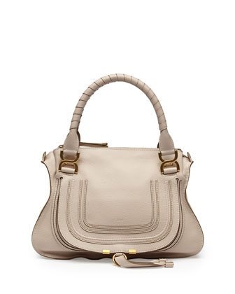 Marcie Medium Shoulder Bag, White