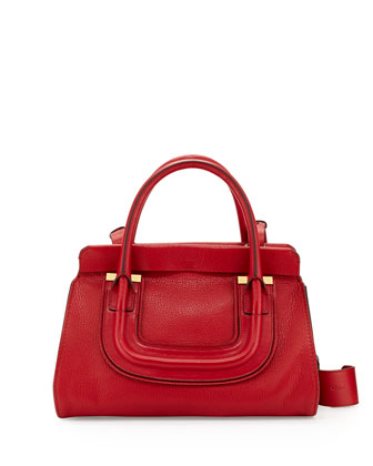 Everston Medium Double Satchel Bag, Red