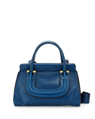 Everston Medium Double Satchel Bag, Cobalt